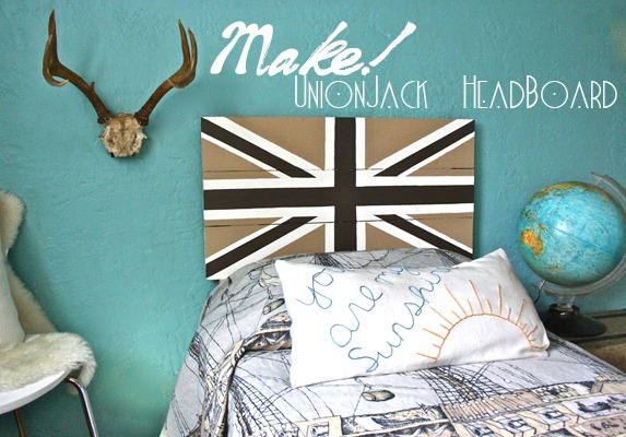 Boy Bedroom with Union Jack Headboard