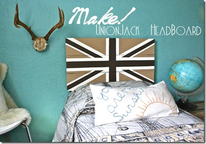 kids furniture :: union jack head board tutorial