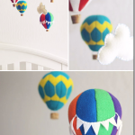 DIY Hot Air Balloon Mobile for your Kids' Bedroom