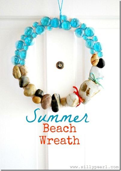 Summer Beach Rock Wreath
