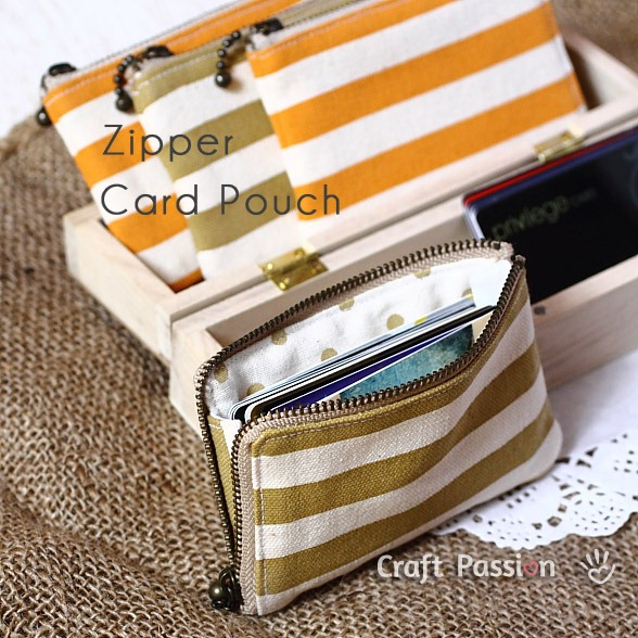 Zipper Credit Card Pouch