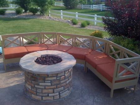 Download curved fire pit benches plans free Fire pit benches