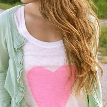 DIY Dye Heart T-shirt