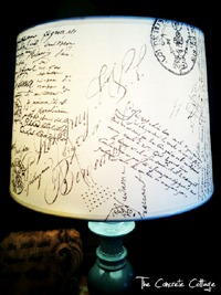 Handscripted Lamp & Other Crafty DIY Features