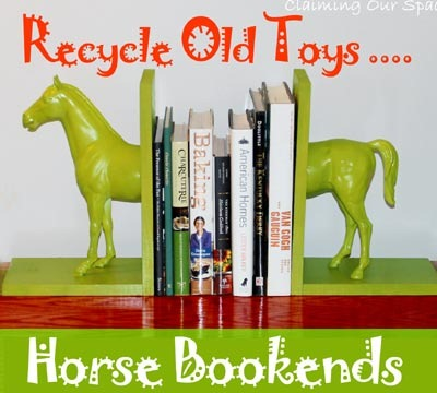 DIY Home Décor: Equestrian Bookends