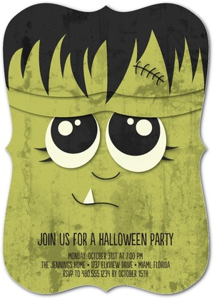 halloween-party invites monster mask