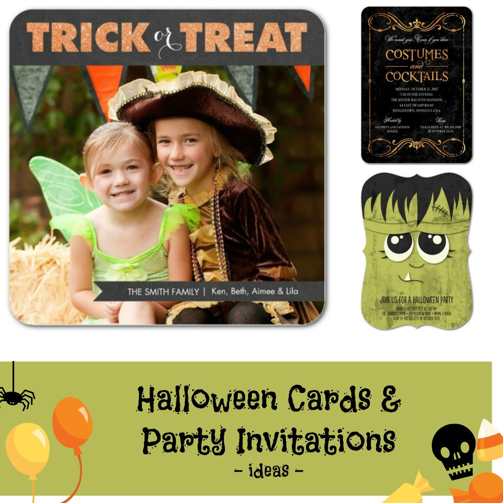 Halloween Party Invitations + Freebie