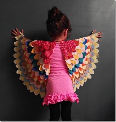 Halloween girl costume bird