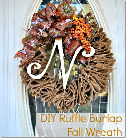 fall wreath ideas with burlap