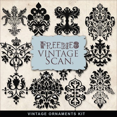 Free Stamp Downloads: Design Gorgeous Vintage Ornaments