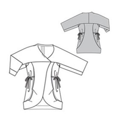fall fashion designer jacket free sewing pattern