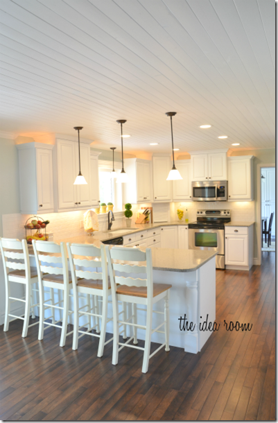 DIY Home Improvement Kitchen Makeover: Wood Ceilings