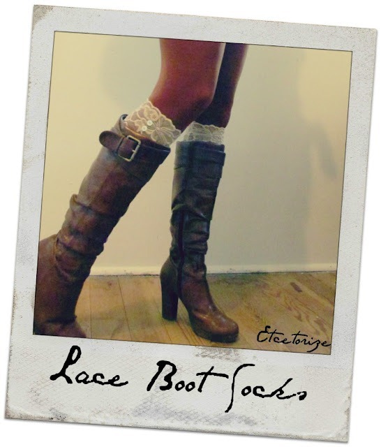 DIY Lace Socks for Leather Boots