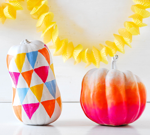 pumpkins ombre paint