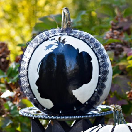 Pumpkin Decorating Ideas with Cameo Silhouettes :: FineCraftGuild.com