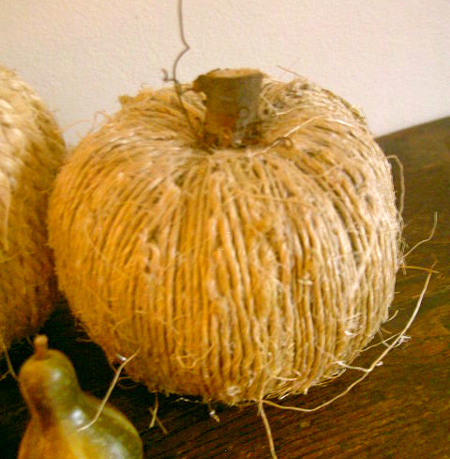 Twine Covered Pumpkin decorating ideas :: FineCraftGuild.com