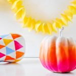 ombre pumpkin (50+ awesome, no-carve pumpkins)