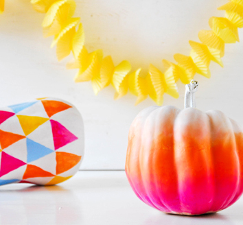 ombre pumpkin (50+ awesome, no-carve pumpkins)