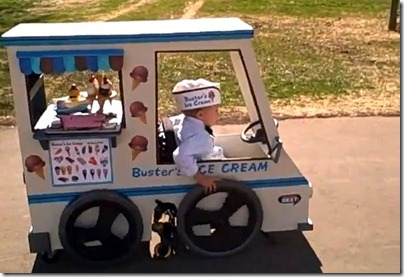 halloween costumes wheelchair icecream car