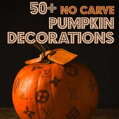 no carve pumpkin ideas designers labels