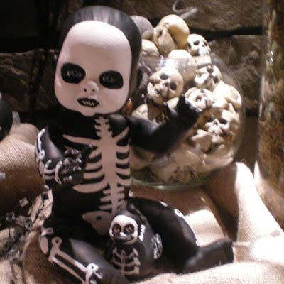skeleton barbie doll diy halloween decorations - party features