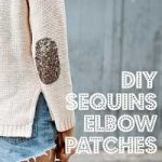 Sweater with DIY Sequins Elbow Patches