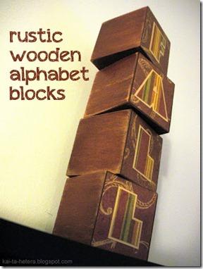 Fall decorative blocks
