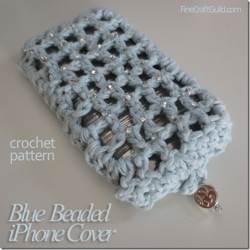 Irish Lace iPhone Cover Crochet Pattern by FineCraftGuild.com