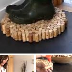 DIY Recycled Cork Floor Mats
