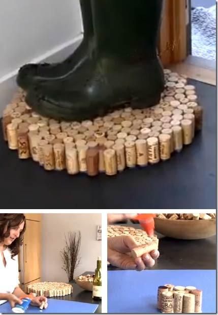 DIY Recycled Cork Floor Mats