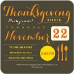 Thanksgiving invitation by Tiny Prints
