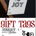 Free Printable Gift Tags, really groovy black and white tags