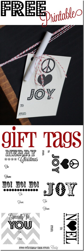 Groovy b/w Gift Tags 9