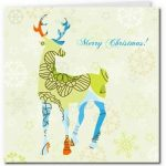 free printable cards merry christmas reindeer