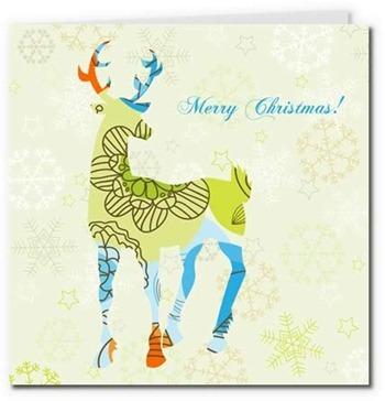 free printable cards merry christmas reindeer