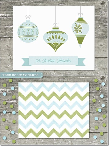 free holiday cards pastels chevron