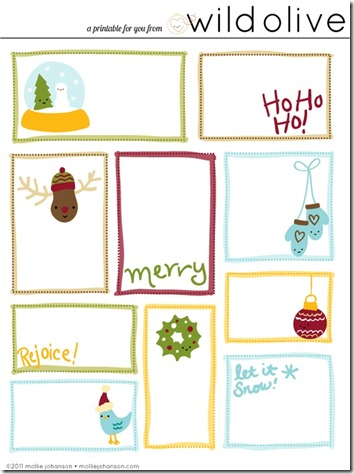 Gift Tags with playful 'handwritten' greetings  8