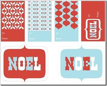 Printable Free Gift Tags #6 – Noel