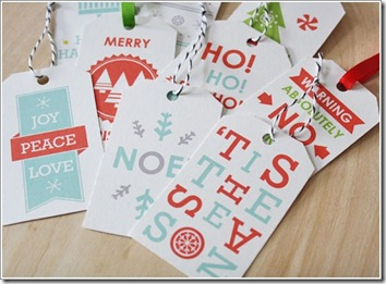 holiday gift tags peace