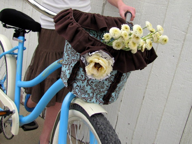 Romantic Bike Basket :: Free Sewing Pattern