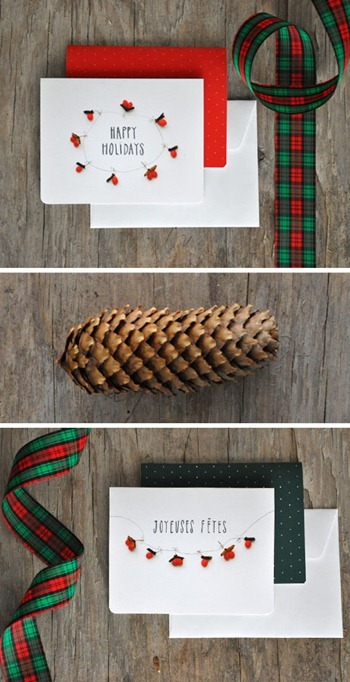 Pretty Berry Holiday Cards