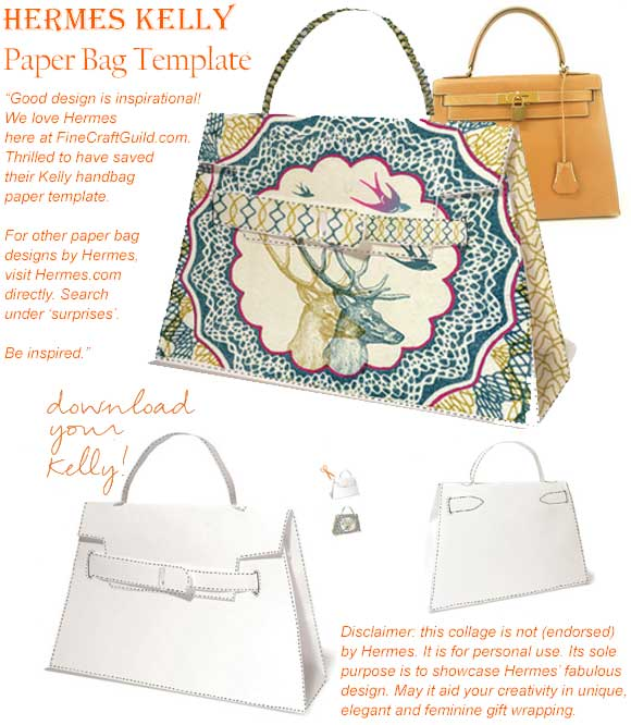 hermes kelly pape bag template
