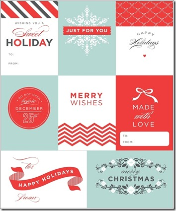 chevron holiday gift tags