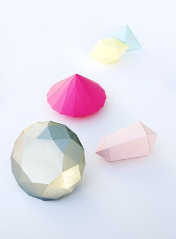 paper diamonds gems free templates