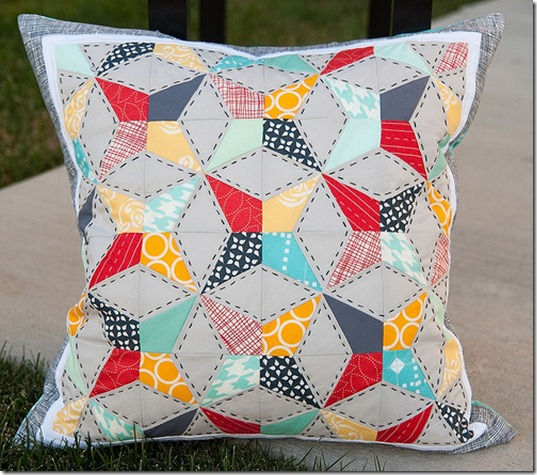 kaleidoscope quilt pillow pattern