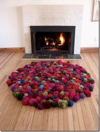 pompom rugs :: pompom rug :: FineCraftGuild.com