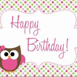Owl Birthday Party – Free Printables
