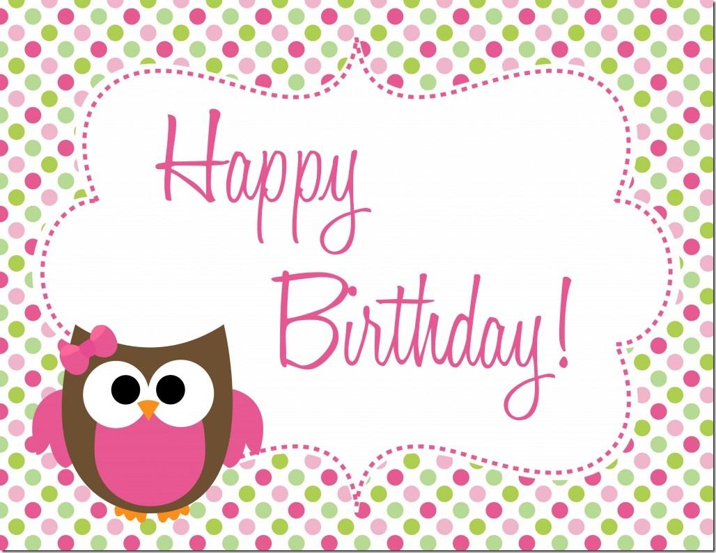 Owl birthday party printables