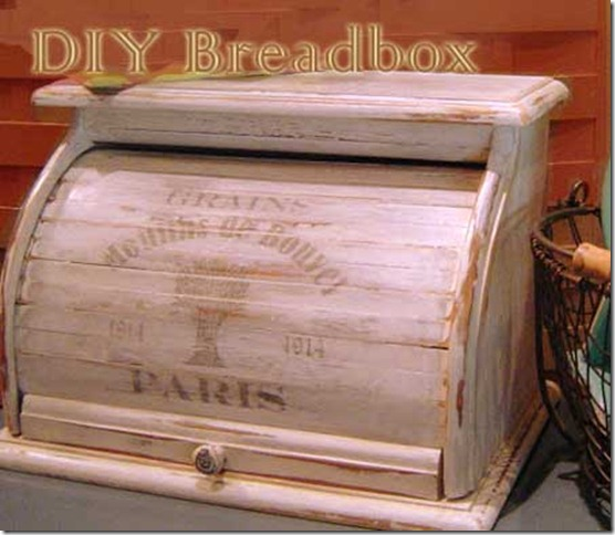 DIY French vintage wooden bread box after, by Lorrie. Featured at FineCraftGuild.com