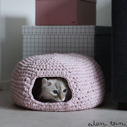Cozy Cat Bed Crochet Pattern